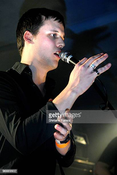 Harry McVeigh of White Lies performs at FAC 251 on February 13 2010 in Manchester England