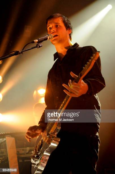 Harry McVeigh of White Lies performs on stage at O2 Academy on November 29 2009 in Newcastle upon Tyne England