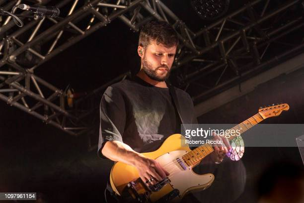 Harry McVeigh of White Lies performs on stage at The Liquid Room on February 11 2019 in Edinburgh Scotland