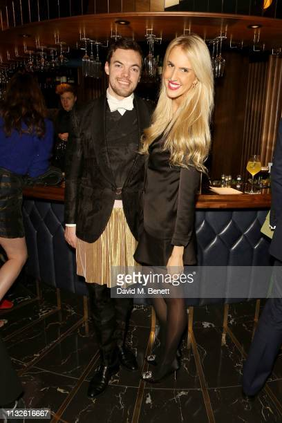 Harry Mead and Charlotte Hudson attend a party hosted by Gina Martin and Ryan Whelan to celebrate the Royal ascent into law of the Voyeurism Bill...