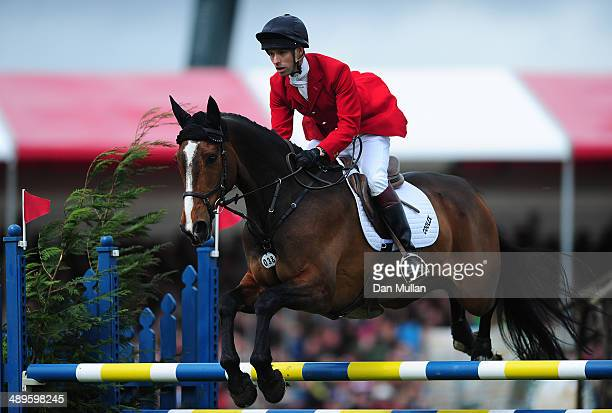 Harry Meade of Great Britain riding Wild Lone during the Show Jumping on day five of the Badminton Horse Trials on May 11 2014 in Badminton England