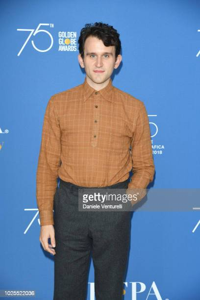 Harry Melling attends the Hollywood Foreign Press Association Cocktail Party during the 75th Venice Film Festival at Excelsior Hotel on August 31,...