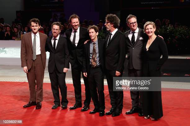Harry Melling, Ethan Coen, Bill Heck, Tim Blake Nelson, Joel Coen, guest and Sue Naegle walk the red carpet ahead of the 'The Ballad of Buster...