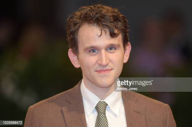 Harry Melling walks the red carpet ahead of the 'The Ballad of Buster Scruggs' screening during the 75th Venice Film Festival at Sala Grande on...