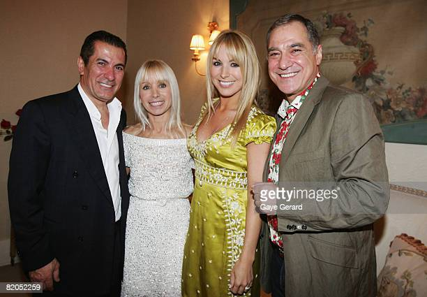 Harry Michaels, Effie Michaels with their daughter Television personality Natalie Michaels and close family friend and Mcee John Mangos during the...