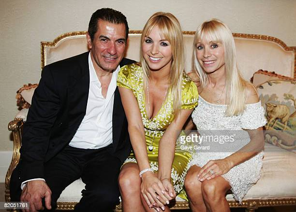 Harry Michaels with his daughter Television personality Natalie Michaels and her mother Effie during the official launch of her new book `The...