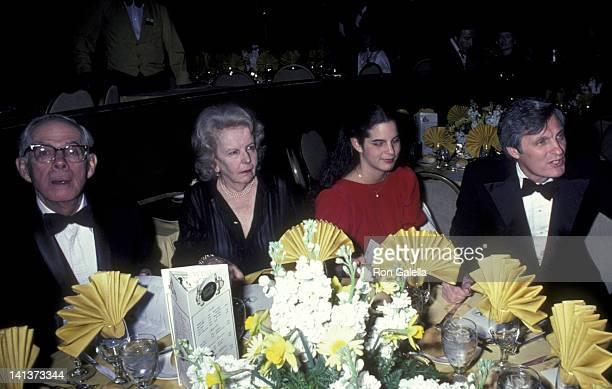 Harry Morgan wife Barbara Bushman Alan Alda and daughter Elizabeth Alda attend 34th Annual Directors Guild of America Awards on March 13 1982 at the...