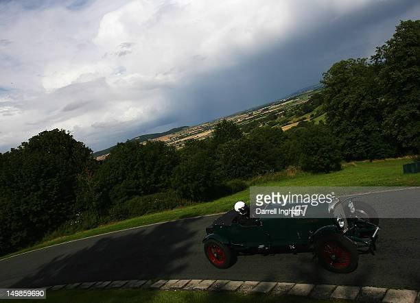 Harry Morten drives the Bentley 4/5 litre during the Vintage Sports Car Club Prescott Hill Speed Climb at the Prescott Hill on August 4 2012 near...