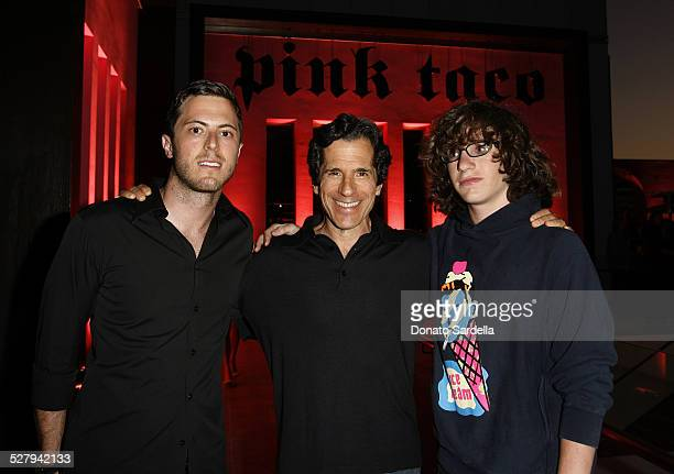 Harry Morton Peter Morton and Matthew Morton during Grand Opening Party for Harry Morton's Pink Taco in Century City at Westfield Century City Mall...