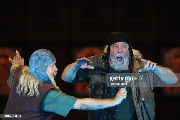 Harry Nicoll as Missail and John Tomlinson as Varlaam in The Royal Opera's production of Modest Musorgsky's Boris Godunov directed by Richard Jones...