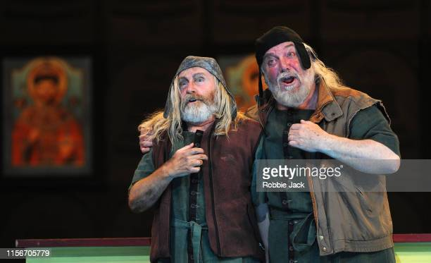 Harry Nicoll as Missail and John Tomlinson as Varlaam inThe Royal Opera's production of Modest Musorgsky's Boris Godunov directed by Richard Jones...