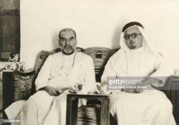 Harry Philby with Haj Abdullah taken in the late King Abdul Aziz guest house at Riyadh Saudi Arabia
