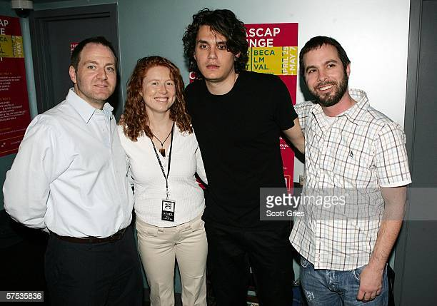 Harry Poloner ASCAP Vice President Sue Devine ASCAP Senior Director musician John Mayer and Tom DeSavia ASCAP Senior Vice President are seen at the...