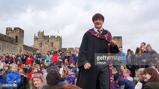Harry Potter actor at Alnwick castle