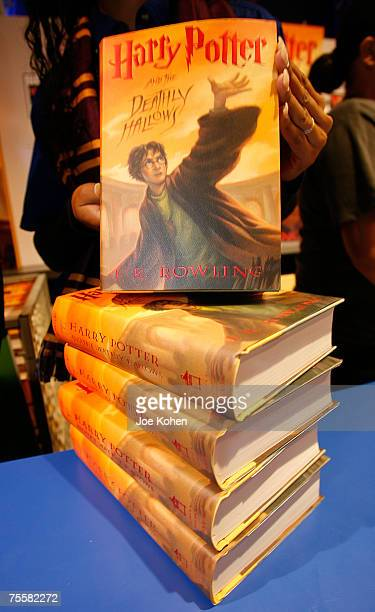 Harry Potter and the Deathly Hallows books photographed at Toys R Us Times Square on July 20 2007 in New York City