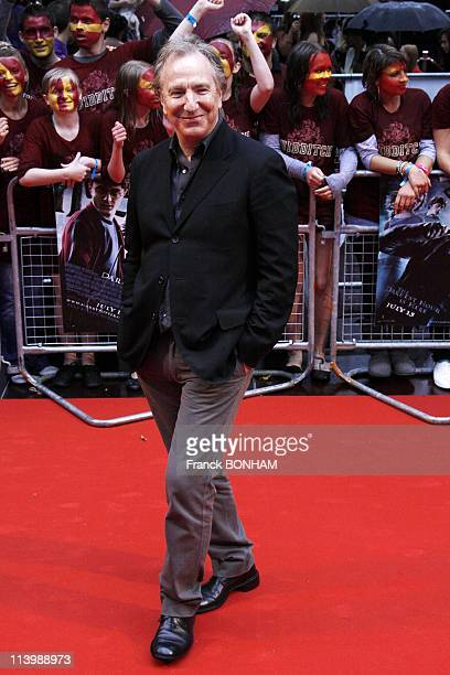 Harry Potter And The HalfBlood Prince' world Premiere In London United Kingdom On July 07 2009Alan Rickman arrives at the World Premiere of 'Harry...