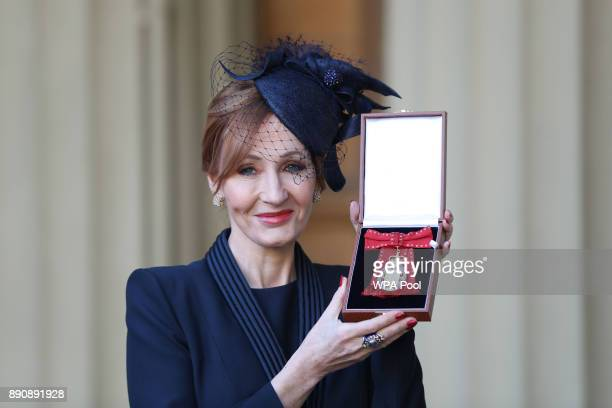 Harry Potter author JK Rowling after she was made a Companion of Honour by the Duke of Cambridge during an Investiture ceremony at Buckingham Palace...