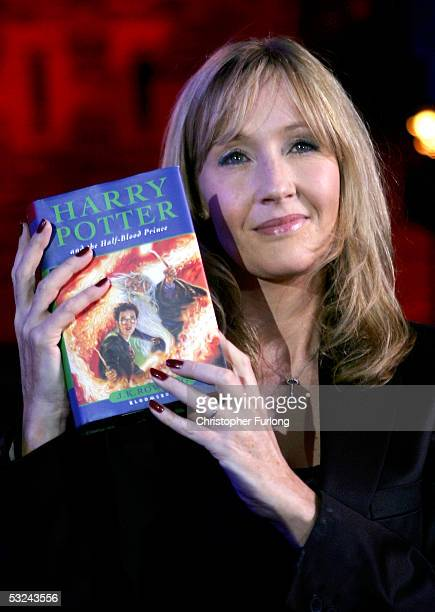 Harry Potter author JK Rowling arrives at Edinburgh Castle where she will read passages from the sixth magical childrens title Harry Potter And The...