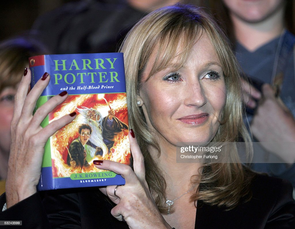 Harry Potter author JK Rowling arrives at Edinburgh Castle where she will read passages from the sixth magical children?s title ?Harry Potter And The Half-Blood Prince?, on July 15, 2005 in Edinburgh, Scotland. 70 junior reporters from around the world, aged between eight and 16, make up the audience, and meet and ask questions to the author ahead of the midnight release of the new volume.
