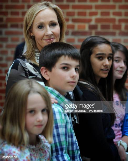 Harry Potter author JK Rowling with young fans at the launch of her Pottermore website in LondonPicture date Thursday June 23 2011 Previously...