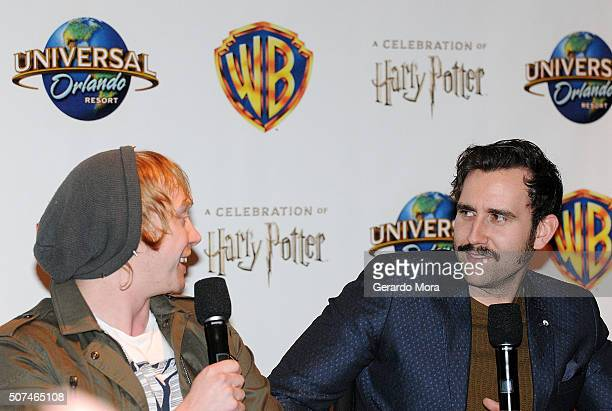 'Harry Potter' cast members Rupert Grint and Mathew Lewis attend the 3rd Annual Celebration Of Harry Potter at Universal Orlando on January 29 2016...