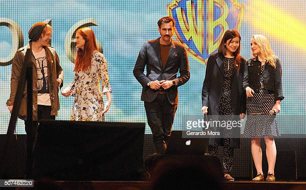 'Harry Potter' cast members Rupert Grint Bonnie Wright Matthew Lewis Katie Leung and Evanna Lynch attend the 3rd Annual Celebration Of Harry Potter...