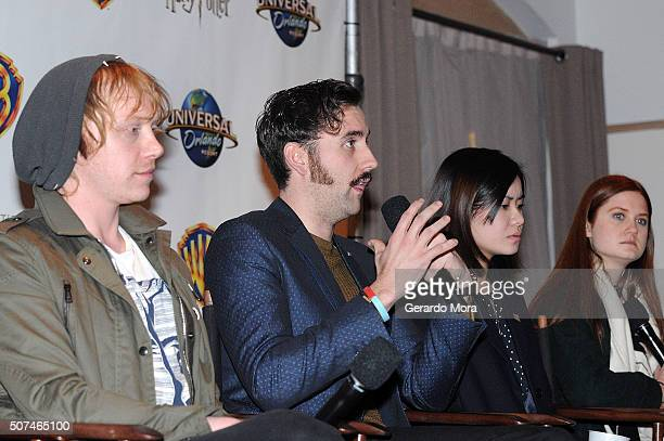 'Harry Potter' cast members Rupert Grint Matthew Lewis Katie Leung and Bonnie Wright attend the 3rd Annual Celebration Of Harry Potter at Universal...