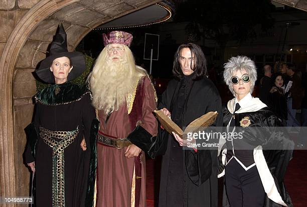 Harry Potter Characters during Harry Potter and The Sorcerer's Stone Los Angeles Premiere at Mann Village Theatre in Westwood California United States
