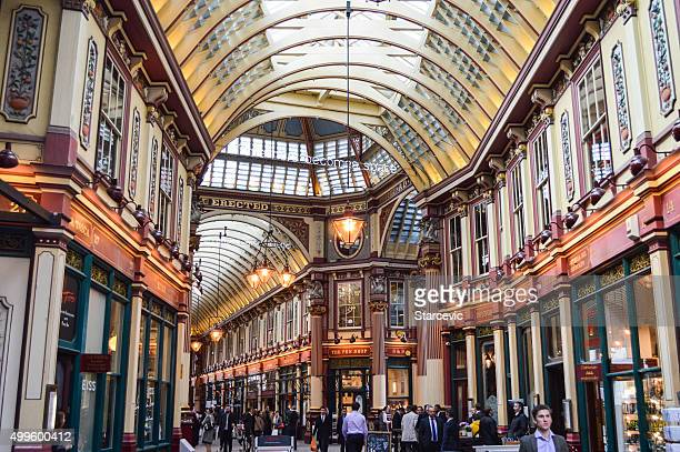 harry potter diagon alley - leadenhall market in london, uk - leadenhall market stock photos and pictures