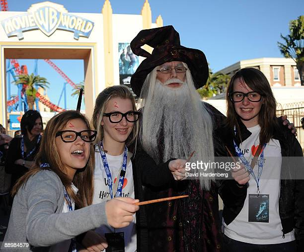 Harry Potter fans arrive for the premiere of 'Harry Potter and the HalfBlood Prince' at Warner Bros Movie World on July 12 2009 on the Gold Coast...
