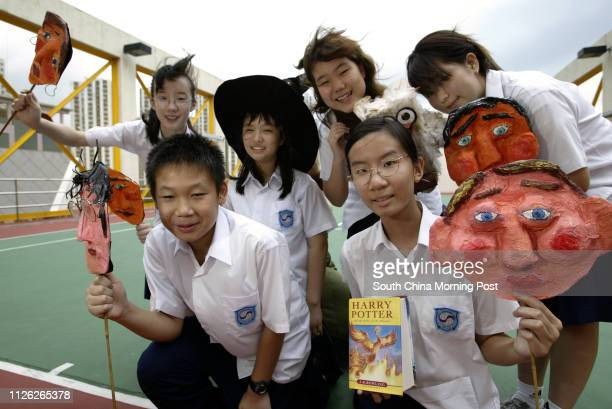 Harry Potter fans of Korean Int'l School Vivian Li, Cynthia Wong, Soo Min-suh, Jung A Kim Kevin Luk and Kristina Choi, who participated in an on-line...