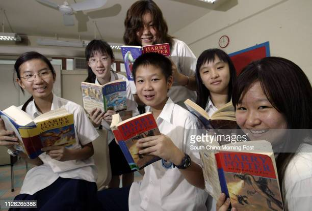 Harry Potter fans of Korean Int'l School Vivian Li, Soo Min-suh, Cynthia Wong, Kristina Choi, Kevin Luk and Jung A Kim who participated in an on-line...