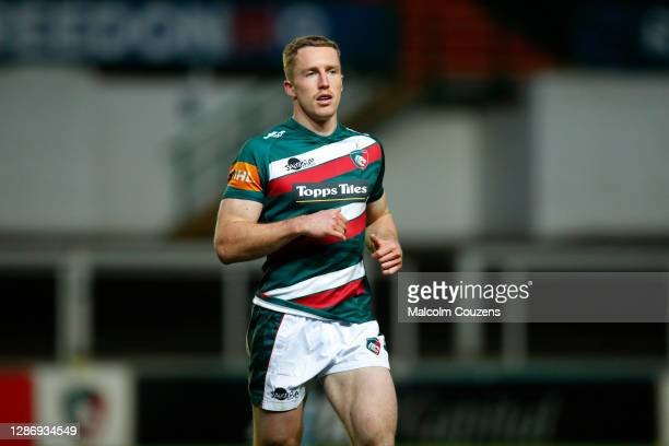Harry Potter of Leicester Tigers looks on during the Gallagher Premiership Rugby match between Leicester Tigers and Gloucester at Welford Road on...