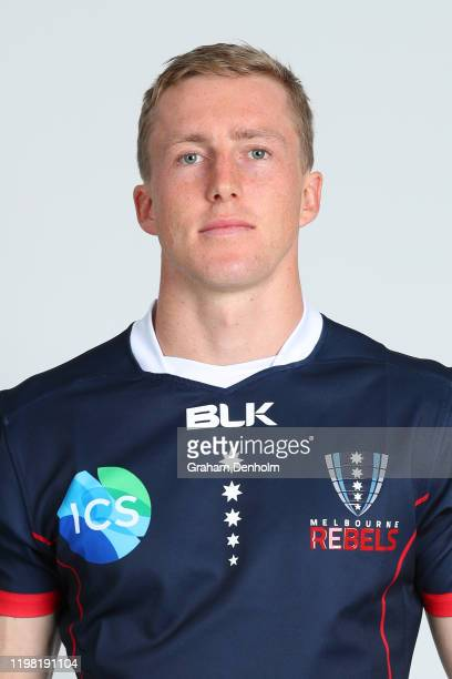 Harry Potter of the Rebels poses during the Melbourne Rebels 2020 Super Rugby headshots session on January 08 2020 in Melbourne Australia