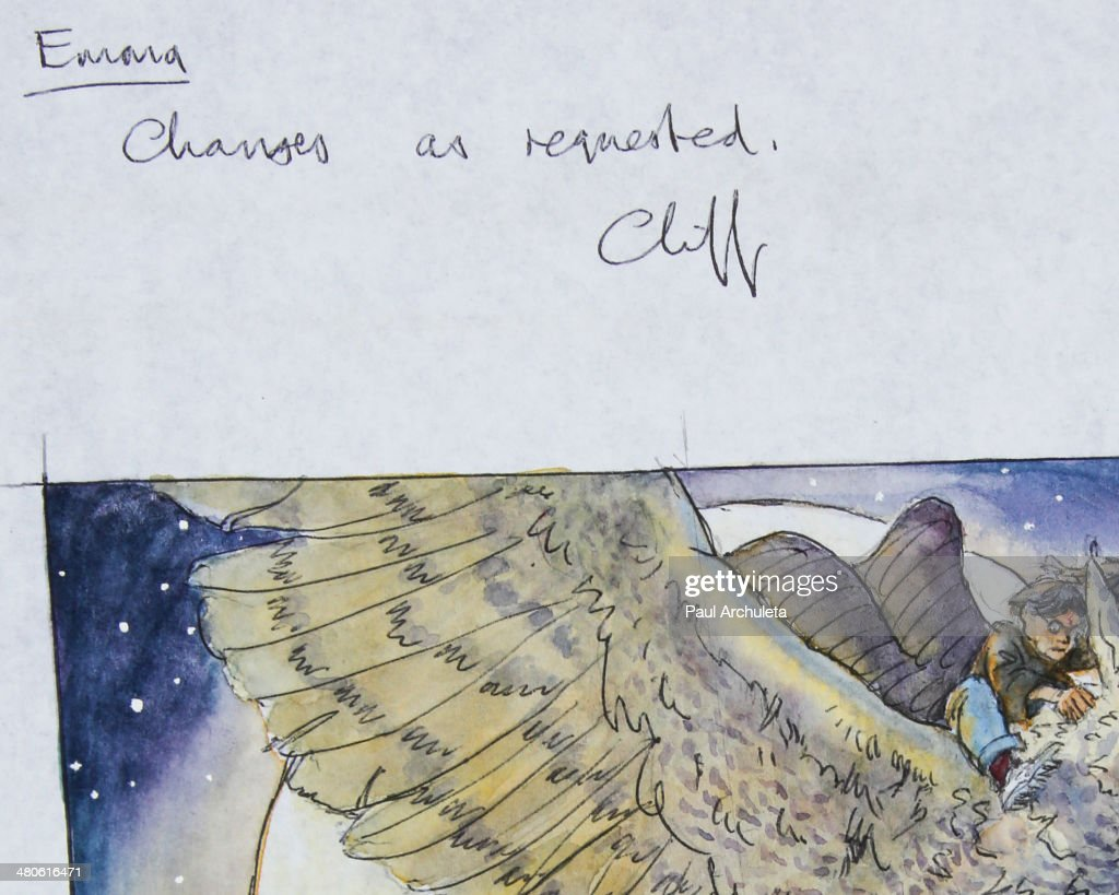 Harry Potter original artwork to be auctioned off by Nate D. Sanders Auctions is seen on March 25, 2014 in Los Angeles, California.