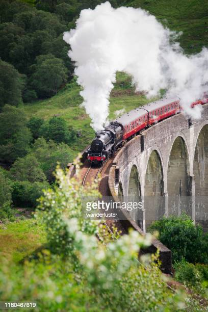 harry potter train in scotland - scotland stock pictures, royalty-free photos & images