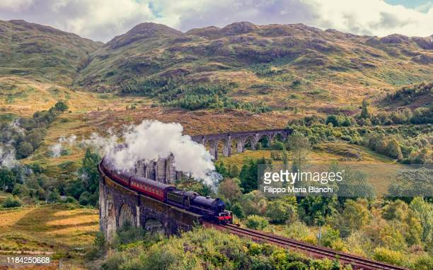 harry potter train - scotland stock pictures, royalty-free photos & images