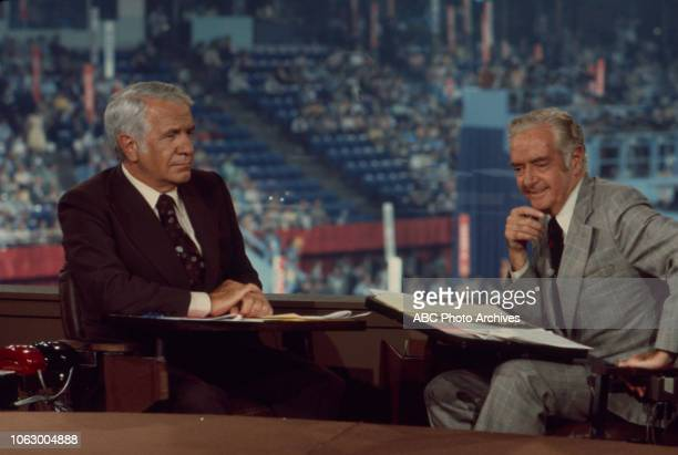 Harry Reasoner Howard K Smith at the 1976 Republican National Convention Kemper Arena