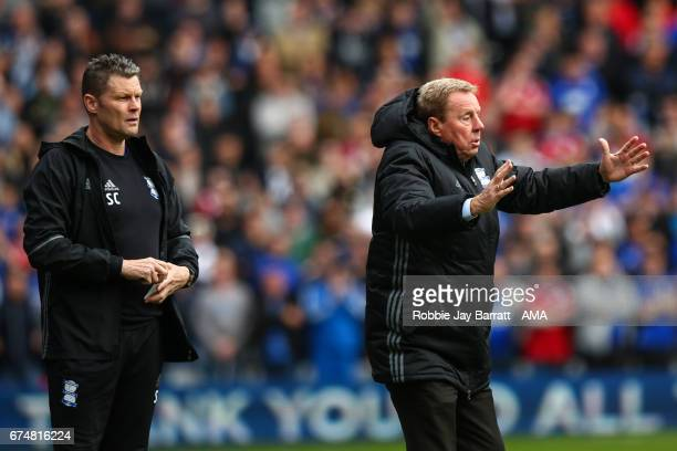 Harry Redknapp head coach / manager of Birmingham City and Steve Cotterill assistant head coach / manager of Birmingham City during the Sky Bet...