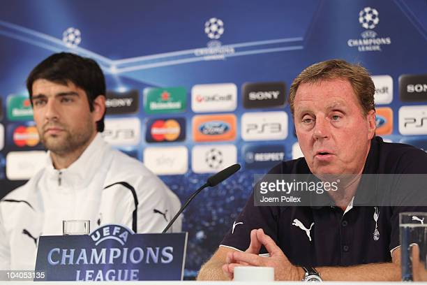 Harry Redknapp , head coach of Tottenham attends the press conference ahead of Tottenhams Champion's League first-round football match against Werder...