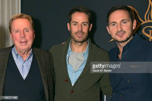 Harry Redknapp Jamie Redknapp and Frank Lampard attend the launch of Jamie Redknapp's fashion venture Sandbanks at The Mandrake Hotel on October 24...