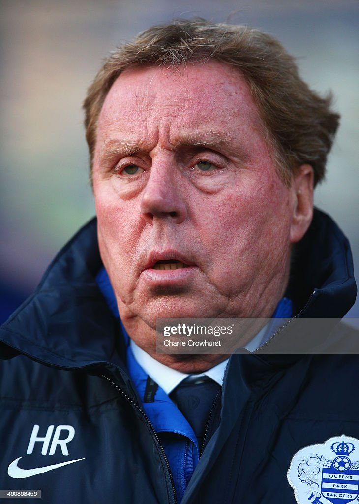 Harry Redknapp manager of QPR looks on prior to the Barclays Premier League match between Queens Park Rangers and Crystal Palace at Loftus Road on December 28, 2014 in London, England.