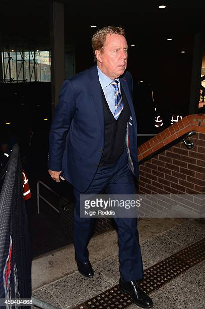 Harry Redknapp the QPR manager arrives prior to the Barclays Premier League match between Newcastle United and Queens Park Rangers at St James' Park...