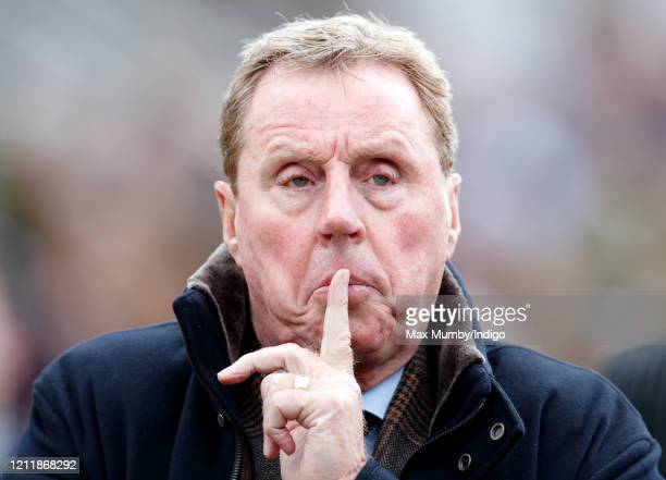 Harry Redknapp watches his horse 'Shakem Up'Arry' run in the Ballymore Novices' Hurdle race on day 2 'Ladies Day' of the Cheltenham Festival 2020 at...