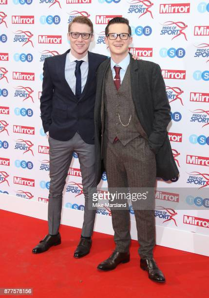 Harry Reid and Jamie Borthwick attend the Pride of Sport awards at Grosvenor House on November 22 2017 in London England
