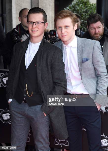 Harry Reid and Jamie Borthwick attend the TRIC Awards 2017 at the Grosvenor House on March 14 2017 in London United Kingdom