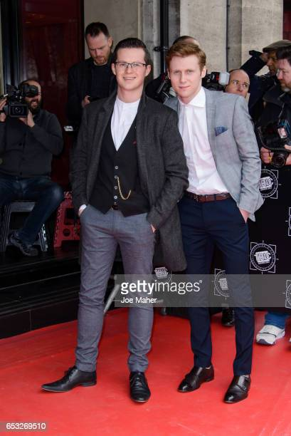Harry Reid and Jamie Borthwick attend the TRIC Awards 2017 on March 14 2017 in London United Kingdom