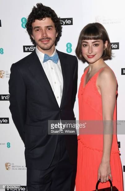 Harry Richardson and Ellise Chappell attend the EE InStyle Party held at Granary Square Brasserie on February 6 2018 in London England
