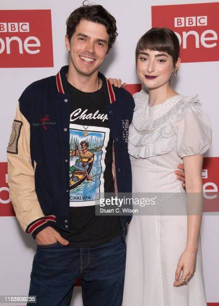Harry Richardson and Ellise Chappell attend the series premiere followed by a QA session for Poldark at BFI Southbank on June 05 2019 in London...