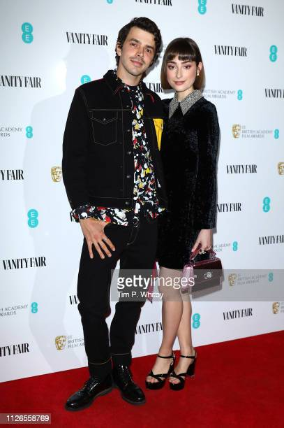 Harry Richardson and Ellise Chappell attend the Vanity Fair EE Rising Star Party at The Baptist on January 31 2019 in London England